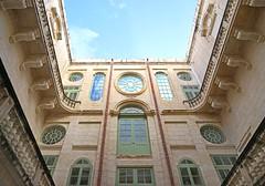 La cour intérieure du musée national des beaux-arts (La Valette, Malte)