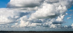 Like castles in the sky.. (ParadoX_Design) Tags: sky lake castle water amsterdam skyline clouds view diemen cloudporn impressive ijsselmeer pampus ijmeer