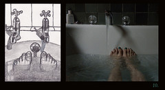 10 Toes in the Tub (Room With A View) Tags: birthday art pairs dyptich carolineme