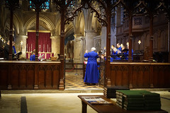 The Choir (judy dean) Tags: blue choir singing altar hymnbooks 2016 reredos tewkesburyabbey judydean sonya6000