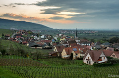 Rorschwihr (Nu Mero) Tags: sunset sunrise village paysage vignoble ville coucherdesoleil leverdesoleil rorschwihr