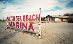 Salton Beach (William Mark Sommer) Tags: california abandoned film marina 35mm saltonsea nikonn90s abandonedgasstation shootfilm saltoncity saltonbeachmarina abandonedcalifornia abandonedsea