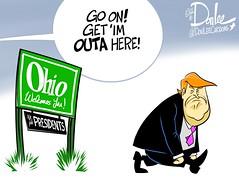 0316 trump ohio cartoon (DSL art and photos) Tags: ohio election presidential donaldtrump primary republicans editorialcartoon 2016 donlee