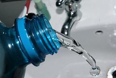 Thirsty Anyone? (jacobusswart85) Tags: blue water basin freeze freezeframe shutter tap thirsty highspeed bottel waterbottel