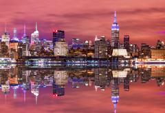 Reflection of Manhattan (3dRabbit) Tags: nyc ny reflection night skyscraper canon river long exposure cityscape peace manhattan nj hudson 135mm 5dmarkiii sungjinahn