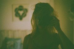 nest (maggyvaneijk) Tags: travel girl self 35mm spain bedroom minolta messy blonde analogue selfie