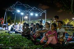 Movie under the stars (Stinkee Beek) Tags: erin ethan bishanpark