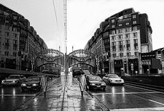 Brussels (Jan Kranendonk) Tags: street brussels reflection cars rain architecture umbrella buildings europe european traffic belgium belgie brussel