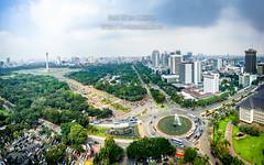 The heart of Jakarta (JoniMetal) Tags: city panorama building architecture buildings indonesia landscape panoramic aerial jakarta monas kota nationalmonument gedung monumennasional cityscraper arsitektur kotajakarta