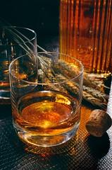 Rye Whiskey (djwtwo) Tags: glass grass nikon drink alcohol barware ryewhiskey strobist d7000 afsdxnikkor35mmf18g