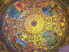 Beautiful Christian Armenian cathedral dome decorations in Iran (Germán Vogel) Tags: travel tourism church beautiful circle design asia iran cathedral mosaic traditional decoration middleeast ceiling christian dome christianity bookcover minority isfahan armenian minorities vank jolfa islamicrepublic westasia newjolfa middleeastculture facebookcover