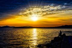 Fisherman's friend (dkoukou) Tags: fishing fisherman sony tripod greece hdr a7r fe2470