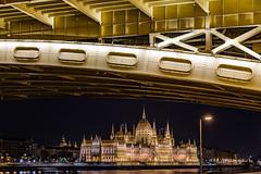 Margaret Bridge Framing (lncgriffin) Tags: longexposure nightphotography travel bridge history architecture nikon europa europe hungary budapest d750 nikkor duna hdr danuberiver magyarorszg hungarianparliament margaretbridge margithid 24120mmf4gvr