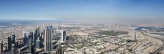 View from Burj Khalifa (Johannes R.) Tags: city sky panorama building tower nature modern contrast skyscraper canon observation point high downtown dubai view desert united uae platform inner emirates deck khalifa manmade arabian viewing burj highest tallest hight 70d efs1855stm