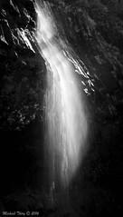Cascade (2) (Michaël T.) Tags: blackandwhite bw water eau noiretblanc nb cascade chute roche