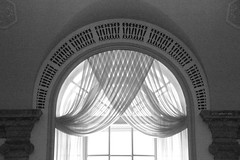 Crisscross Curtain (Canadian Pacific) Tags: city bw usa newyork building museum architecture america us photo unitedstates state image manhattan curtain american lower wallstreet crisscross 48 finance ofamerica aimg6208newspapereffect ofamericanfinance