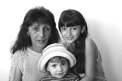 . (Out to Lunch) Tags: family portrait blackandwhite woman monochrome canon children eos refugee moldova 282470 5dmii