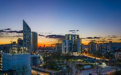 London: Elephant & Castle Nightscape (ZhoPhos) Tags: city uk longexposure blue sky house elephant london castle night nikon cityscape nightscape wide sigma wideangle masks april 1020mm hdr luminosity 2016 naturalhdr