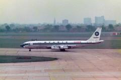 PP-VLP Boeing 707-323C cn 20008 ln 739 Varig Cargo Heathrow 13May78 (kerrydavidtaylor) Tags: boeing707 boeing707300