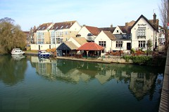 St Neots Riverside (innpictime  ) Tags: bridge house bar reflections river garden restaurant pub inn terrace gazebo patio ouse marketsquare moorings watery bridgehouse stneots c16