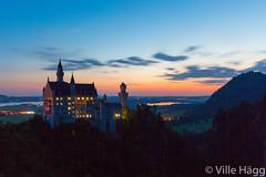 Neuschwanstein Castle (villeah) Tags: travel castle architecture germany de landscape bayern dawn touristattraction romanesquerevival hohenschwangau schwangau romanticism neuschwansteincastle kingludwigii