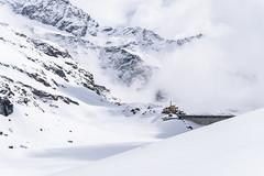 Lago Gabiet (Luciano Fochi) Tags: italy lake snow clouds dam monterosa valledaosta gressoney lagogabiet