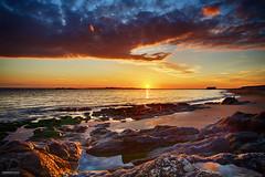 La Roche Seche - #09 (DENISDROUAULT) Tags: ocean sunset sea sky mer france nature rock french brittany bretagne breizh ciel morbihan paysages hdr rocher coucherdesoleil jimages wildcoast erdeven eascape borderfx canon5dmiii denisdrouault