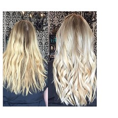 """Gorgeous blonde correction by Number 9's @thehaircolorexpert . #blonde #salonlife #stpete #dtsp #haircolor #hair #highlights #modernsalon #americansalon • <a style=""""font-size:0.8em;"""" href=""""http://www.flickr.com/photos/41394475@N04/26432771615/"""" target=""""_blank"""">View on Flickr</a>"""