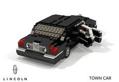 Lincoln Town Car (2003-2011) (lego911) Tags: auto 2003 usa ford car america sedan town model lego render company modular motor saloon luxury limousine v8 cad povray 2000s moc lincon ldd miniland wixon lego911 en115