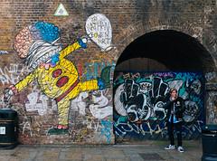 Tadaa! (lorenzoviolone) Tags: england streetart guy london art graffiti mural unitedkingdom streetphotography stranger finepix shoreditch fujifilm streetphoto muralart fujiastia100f fav10 mirrorless vsco vscofilm streetphotocolor fujix100s x100s fujifilmx100s travel:uk=londonapr16
