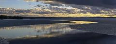 Wide open (Kari Siren) Tags: panorama lake ice finland spring melt waterway jaala karijarvi