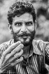 Drinking Tea - Portrait BW (Tarang Jagannath) Tags: portrait blackandwhite india face mood tea fresh human