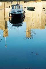JUST ONE (skysthelimit333) Tags: wood water wales boat wooden woodenboat caernarfon sailingboat northwales sailingcraft