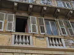 20150527_154918LC (Luc Coekaerts from Tessenderlo) Tags: window public facade vintage pillar nobody architectural retro greece creativecommons shutter aged corfu kerkyra vak grc oldwindow liston architecturalelement corfucity cc0 coeluc vak201505corfu