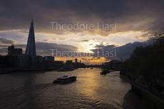 Sunset over River Thames (bambinoimages II) Tags: city uk travel sunset england london thames landscape britain dusk british riverthames theshard