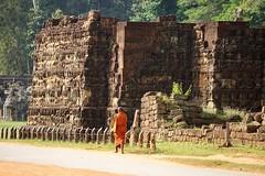 Siem Reap. Angkor Wat. Kingdom of Cambodia. (maris.vabils) Tags: orange temple cambodia monk angkorwat siemreap kingdomofcambodia
