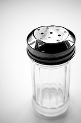 B&W 8 (chloejadeyoung) Tags: camera white black art kitchen composition contrast canon project photography design photoshoot personal object space experiment holes research shaker jar concept dots utensil perforation