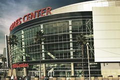 Staples Center (E. Renard Jackson) Tags: architecture losangeles icon arena southerncalifornia lakers clippers downtownlosangeles lakings sportsvenue
