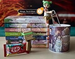 Manga, Tea and Kitkat!  (Damien Saint-) Tags: toy amazon vinyl manga yotsuba danbo revoltech danboard silentvoice koenokarachi