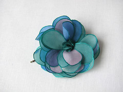 Turquoise and blue rose from hand painted silk - hair pin (simutes) Tags: blue green rose hair turquoise azure violet etsy hairpin silkpainting accessory cheveux silkflower bobbypin barrettes flowerhairpin fleurensoie
