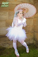 IMG_9342 (Neil Keogh Photography) Tags: pink flowers blue white green abbey graveyard yellow dreadlocks female umbrella fence shoes purple candy boots lace bra gothic goth goggles trainers tattoos gloves corset braids spikes gravestones tutu choker cybergoth whitbyabbey dogcollar fishnettights whitbygothweekend fishnettop april2016