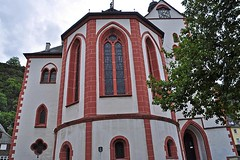 Evangelical Collegiate Church (AntyDiluvian) Tags: trip cruise church ferry river germany deutschland town steeple rhine rhein lorelei stgoar kd bacharach mittelrheintal loreley 2015 middlerhine mittelrhein evangelicalcollegiatechurch