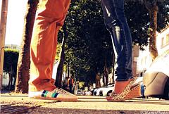 Kiss (yohannhamonic) Tags: street city love shoes kiss bretagne amour rue morbihan ville chaussures lorient bisous