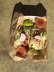Fish Tacos (xelipe) Tags: california losangeles tacos mexicanfood mexican socal sayulita westlosangeles fishtacos foodtruck sayfish