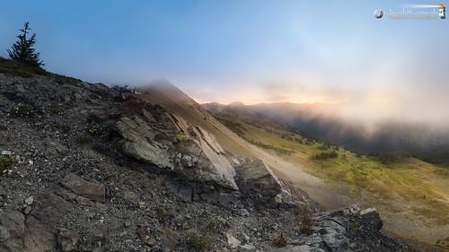 Morning fog at Slate Peak