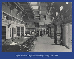 Original State Library Reading Room, 1890 (State Library of Massachusetts) Tags: bostonmassachusetts massachusettsstatehouse massachusettslegislature statelibraryofmassachusetts