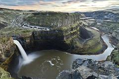 Palouse Falls (JH Photographie) Tags: park sunset snow water river waterfall washington nikon long exposure state plateau falls wa 1224mm silky palouse d7000
