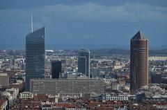 DSC_0909 (Samolymp) Tags: panorama skyline skyscraper de la tour lyon esplanade crayon arrondissement 5e basilique fourvière 3e incity partdieu oxygène lyonnais crédit