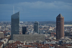 DSC_0909 (Samolymp) Tags: panorama skyline skyscraper de la tour lyon esplanade crayon arrondissement 5e basilique fourvire 3e incity partdieu oxygne lyonnais crdit