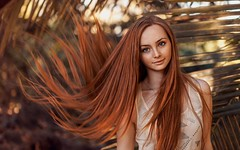 Ginger-model (Up On High Ground) Tags: portrait beautiful beauty hair ginger model eyes character models dream longhair pale dreaming redhead greeneyes thinking actress freckles elegant ponder redhair wondering porcelain sleek pondering alluring pasty freckled carrottop fairskin